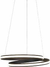 Lampe suspendue Design noire 55 cm avec LED 3