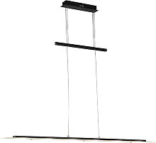 Lampe suspendue design noire avec LED - Platine