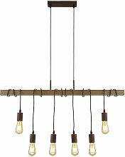 Lampe suspendue design poutre en bois suspension