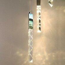 Lampe suspendue en cristal au design moderne,