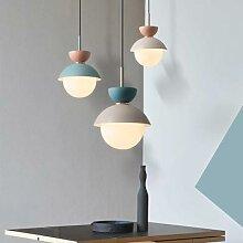 Lampe suspendue en forme de boule de verre au