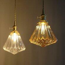 Lampe suspendue en verre au style nordique, en