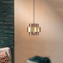 Lampe suspendue en verre cylindrique, design