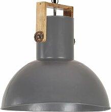 Lampe suspendue industrielle 25 W Gris Rond