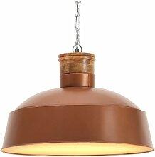 Lampe suspendue industrielle 58 cm Cuivre E27