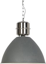 Lampe suspendue industrielle aspect béton - Flynn