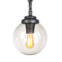 Lampe suspendue industrielle extérieure noire