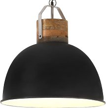 Lampe suspendue industrielle Noir Rond 51cm E27
