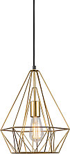 Lampe suspendue industrielle or - Carcasse