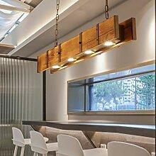 Lampe suspendue LED Salle à manger Bois Hauteur
