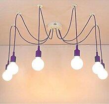 Lampe Suspendue Lustre 6 Têtes Abat Jour -