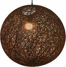 Lampe suspendue Marron Sphère 55 cm E27