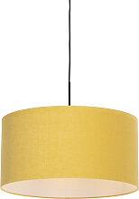 Lampe suspendue moderne noire avec abat-jour 50 cm