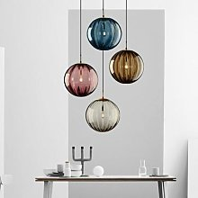 Lampe suspendue nordique moderne avec boule de