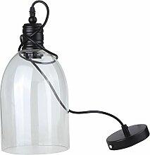 Lampe suspendue vintage avec boule industrielle en