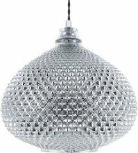 Lampe suspension argentée madon 92538