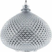 Lampe suspension argentée MADON