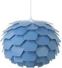 Lampe suspension bleu gros abat-jour segre 72747
