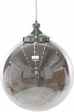 Lampe suspension boule argentée beni grande 236653