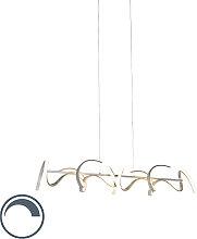 Lampe suspension design argent dimmable avec LED -