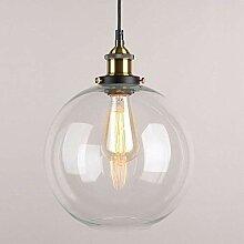 Lampe suspension en verre vintage industriel