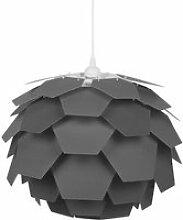 Lampe suspension gris petit abat-jour segre 72764