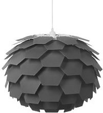 Lampe suspension grise gros abat-jour segre 72716
