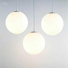 Lampe Suspension Moderne en Verre Brillant Blanc