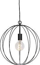 Lampe suspension ronde noire 40 cm - Pelotas
