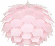 Lampe suspension rose gros abat-jour segre 213775