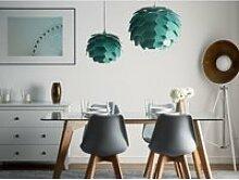 Lampe suspension vert petit abat-jour segre 72760