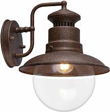 Lampe tache murale extérieur rétro acier