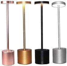 Lampe tactile sans fil en métal, Rechargeable,