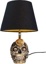Lampe tête de mort steampunk en polyrésine et