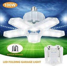 Lampe transparente pliante 100W pour Garage et