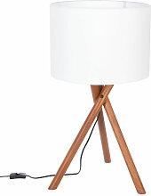 Lampe trépied Natt en bois H66 - Atmosphera
