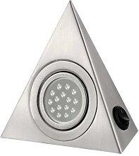Lampe triangulaire en acier inoxydable pour
