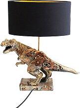 Lampe tyrannosaure steampunk en polyrésine et