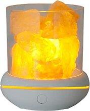 Lampe USB en cristal de sel d'aromathérapie