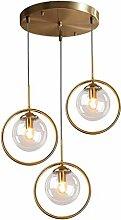 Lampe Vintage Pendentif industriel avec boule en