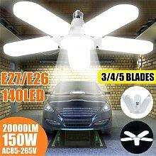 Lampes de Garage pliables E27 2/3/4/5 + 1 pales de