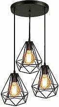 Lampes de Plafond Abat-Jour Suspension Lustre Cage