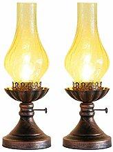Lampes De Table De Chevet Ensemble 2 pièces Old