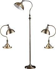 Lampes De Table Et De Sol En Laiton Antique,