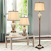 Lampes De Table Et Lampadaire Lot De 3, Avec