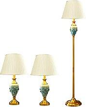 Lampes De Table Et Lampadaire Lot De 3, Lampadaire