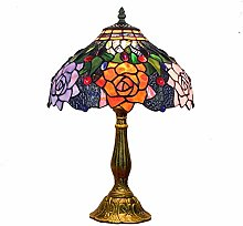 Lampes de table MGWA Rétro Tiffany Vitrail Rose