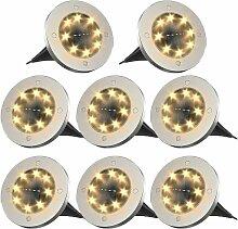 Lampes solaires pour l'extérieur 8 LED,
