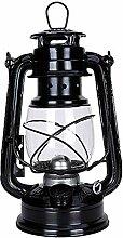 Lampes tempête, lampe à huile LED fer chandelier