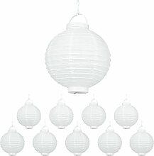 Lampion chinois LED abat-jour papier lanterne